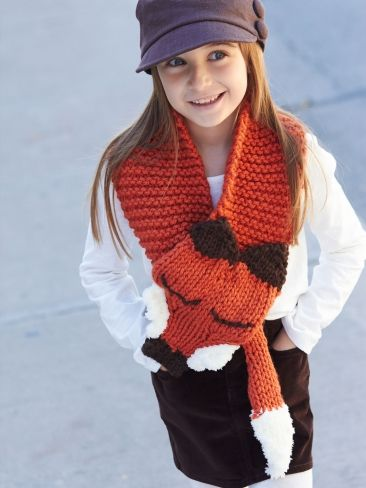 Knitting Pattern Fox Scarf : Fox Knitting Patterns In the Loop Knitting