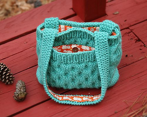 Knitted Bag Patterns Free : Bag, Purse and Tote Free Knitting Patterns In the Loop Knitting