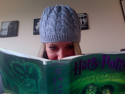 Hermione's Hat from Half Blood Prince Free Knitting Pattern | Harry Potter inspired Knitting Patterns, many free knitting patterns | These patterns are not authorized, approved, licensed, or endorsed by J.K. Rowling, her publishers, or Warner Bros. Entertainment, Inc.