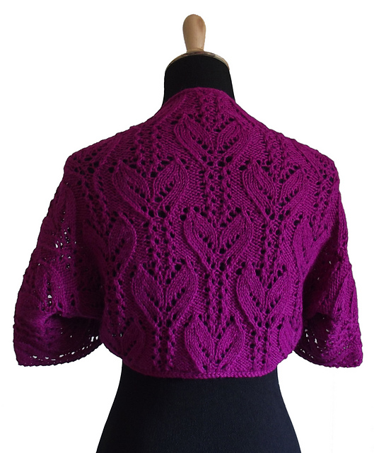 Free Knitting Pattern For Shrug : Shrug and Bolero Knitting Patterns In the Loop Knitting