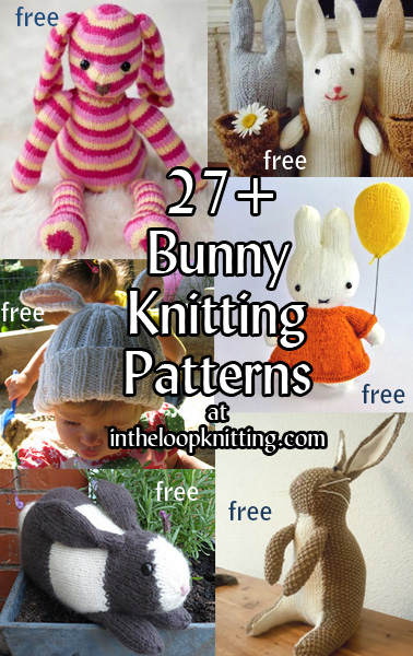 Knitting Patterns For Pet Rabbits : Bunny Rabbit Knitting Patterns In the Loop Knitting
