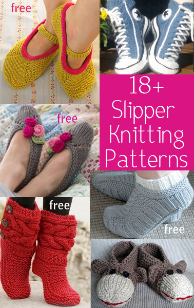 Slipper Knitting Patterns In the Loop Knitting