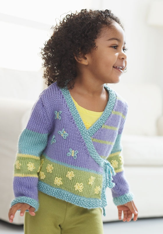 Child s Kimono Knitting Pattern : Free Baby and Toddler Sweater Knitting Patterns In the Loop Knitting