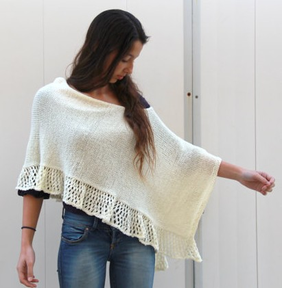 Knitting Pattern For Lace Poncho : Poncho Knitting Patterns In the Loop Knitting