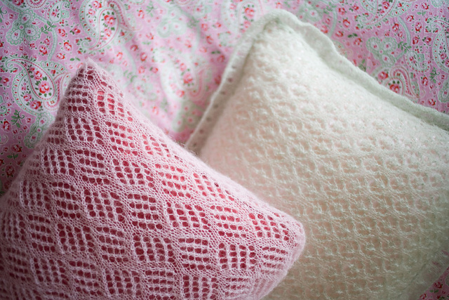 Mohair Cushion Knitting Pattern : Pillow Knitting Patterns In the Loop Knitting