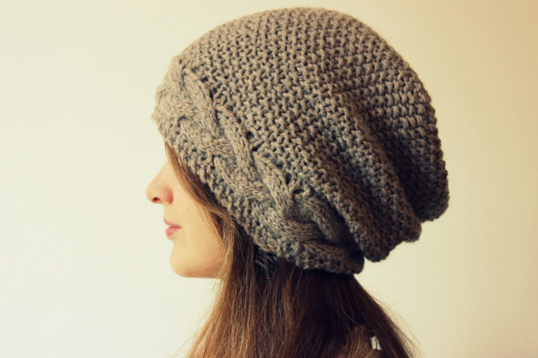 Knitting Pattern Hat Straight Needles Free : Slouchy Hat Knitting Patterns In the Loop Knitting
