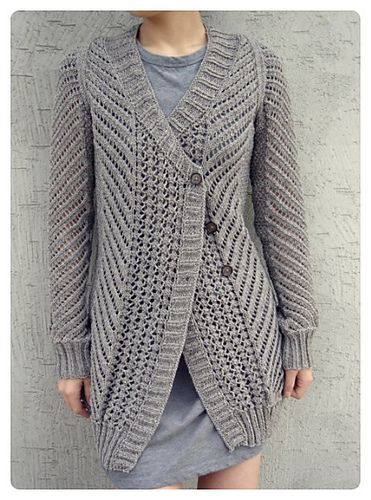 Craft Passions: Oblique Cardigan# free knitting pattern link here