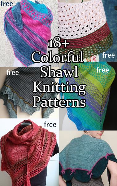 Colorful Shawl Knitting Patterns In the Loop Knitting