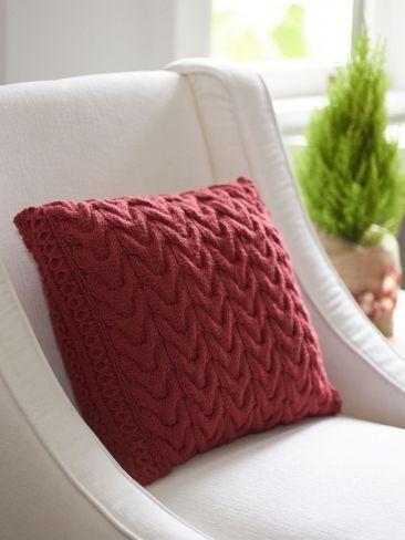 Knitting Pattern Christmas Cushion : Pillow Knitting Patterns In the Loop Knitting