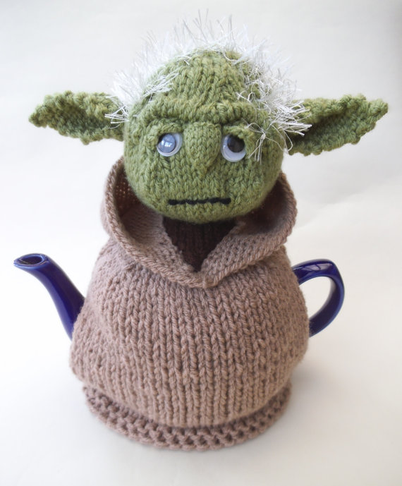 Yoda Tea Cosy Knitting Pattern and more Star Wars inspired knitting patterns