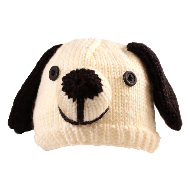 Free Knitting Pattern Baby Animal Hat : Dog Knitting Patterns In the Loop Knitting
