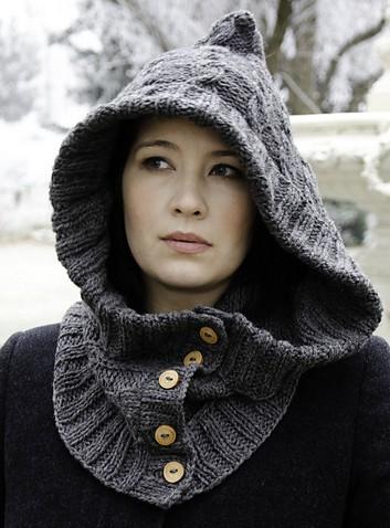 Knitting Pattern Hood Hat : Hoods and Hoodies Knitting Patterns In the Loop Knitting