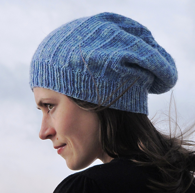 Free Knit Beanie Pattern : Slouchy Hat Knitting Patterns In the Loop Knitting