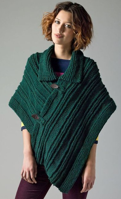 Pattern For Knitted Poncho : Poncho Knitting Patterns In the Loop Knitting