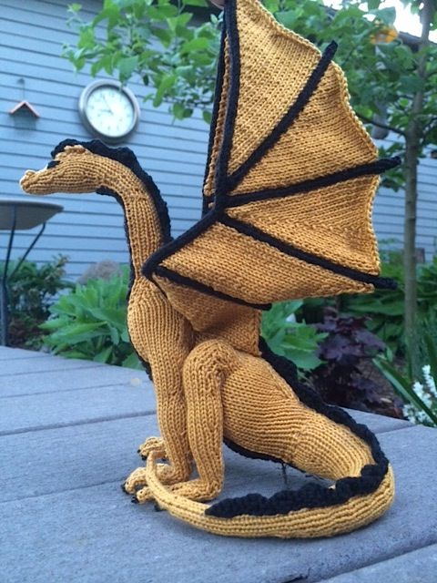 Knitting Pattern For Dragon : Dragon Knitting Patterns In the Loop Knitting