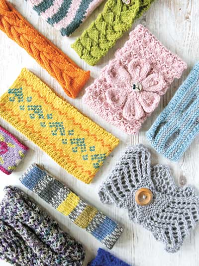 Knitting book for 20 headband patterns and more earwarmer knitting patterns