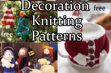 Christmas Decorations Knitting Patterns