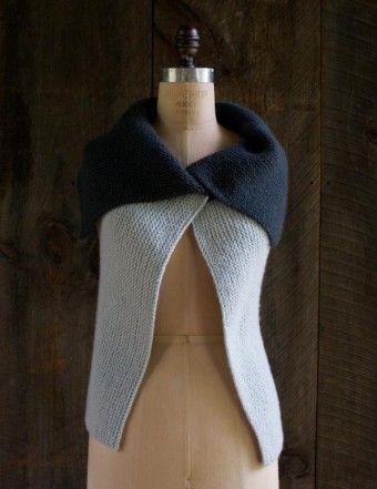 Free knitting pattern for Sideways Garter Vest and more vest knitting patterns