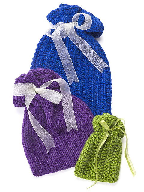 Free Knitting Pattern Gift Bag : Gift Wrap Knitting Patterns In the Loop Knitting