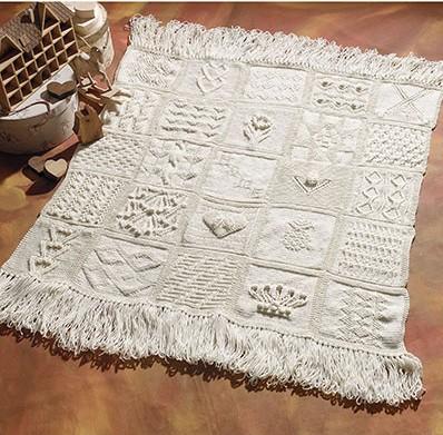 Knitting pattern for Sampler Afghan