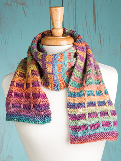 Knitting Pattern Tartan Scarf : Colorful Scarf Knitting Patterns In the Loop Knitting