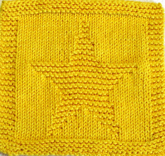 Knitting pattern for Star Cloth and more star knitting patterns
