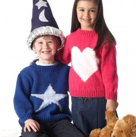 Free knitting pattern for child's Star Sweater and more star knitting patterns
