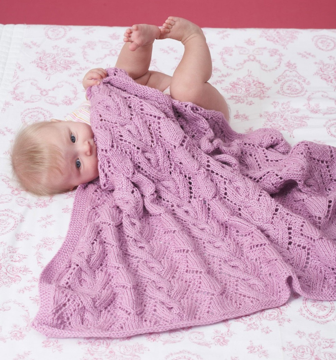 Knitting Pattern For Baby Blanket With Cable : Awww-some Baby Blanket Knitting Patterns In the Loop Knitting