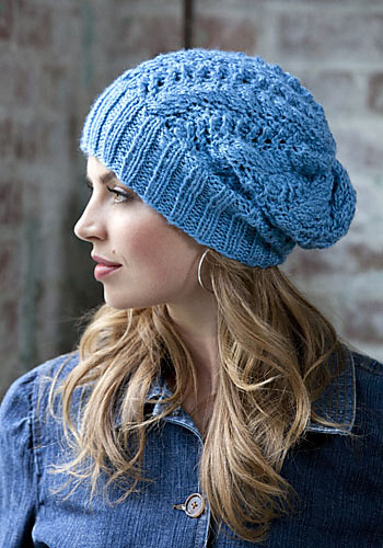 Free Knitting Pattern Lace Beanie : Slouchy Beanie Knitting Patterns In the Loop Knitting