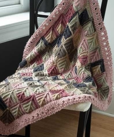 Knitting pattern for Mitered Baby Blanket and more baby blanket knitting patterns