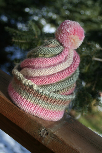 Free knitting pattern for Swirled Ski Cap