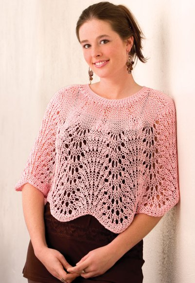 Craft Passions: Lady\'s Lacy Waves Poncho.# free # knitting pattern ...