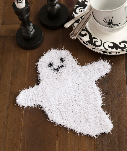 Free knitting pattern for Ghostly Dish Scrubber