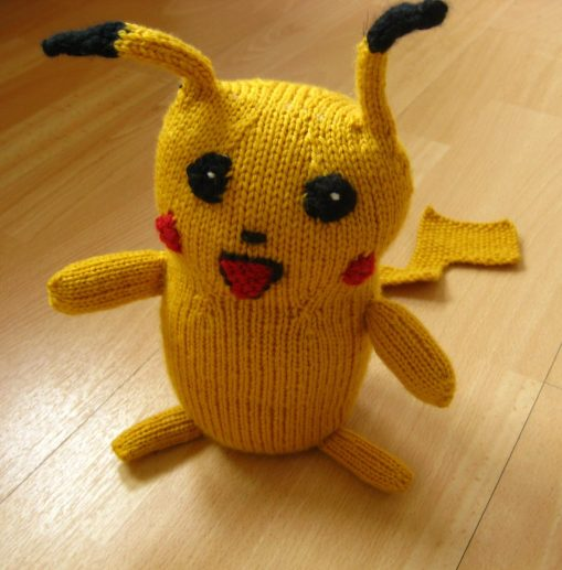 Knitted Pikachu Pattern : Gaming Knitting Patterns In the Loop Knitting