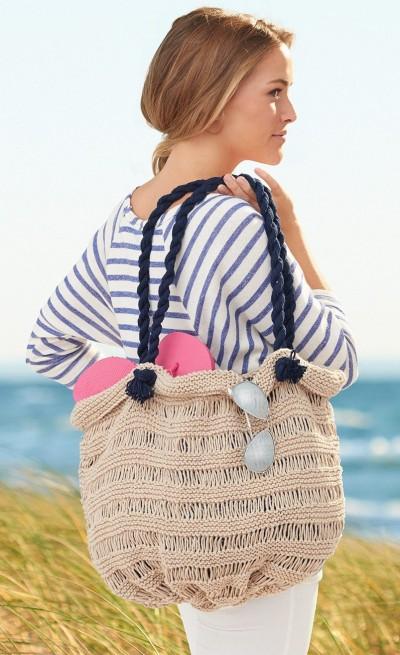 Free knitting pattern for Sea Breeze Bag