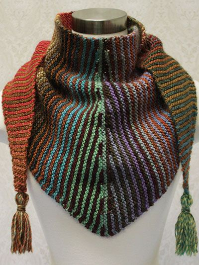 Free Knitting Pattern For Short Row Scarf : Variegated Yarn Knitting Patterns In the Loop Knitting