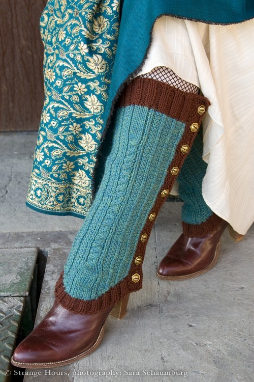 Knitting Pattern Well-Heeled Spatterdashes