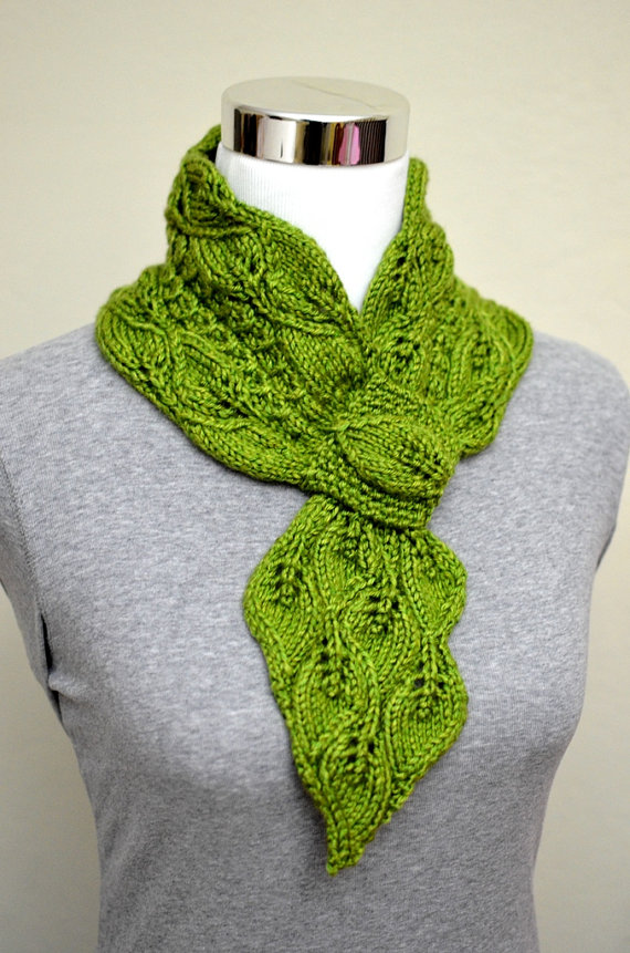 Knitted Keyhole Scarf Pattern : Self-Fastening Scarves and Shawls Knitting Patterns In the Loop Knitting