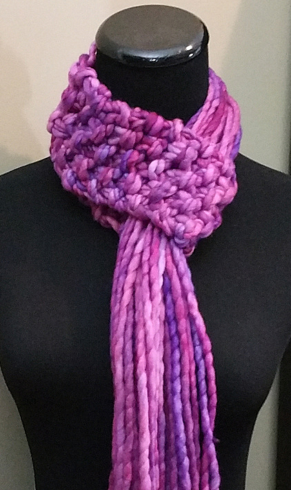 Free knitting pattern for Necks Big Thing quick easy scarf