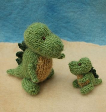 Baby Dinosaur Knitting Pattern : Teeny Toy Knitting Patterns In the Loop Knitting