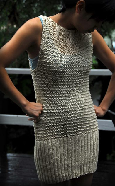 Free knitting pattern for Playa Beach Cover Up Dress