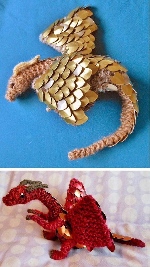 Dragon Motif Knitting Pattern : Dragon Knitting Patterns In the Loop Knitting