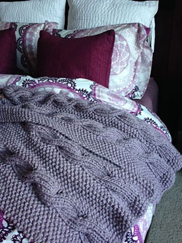 Knit Cable Afghan Pattern : Reversible Cable Knitting Patterns In the Loop Knitting