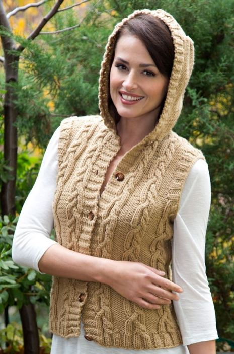 Knitting Pattern Hooded Vest : Hooded Sweater Knitting Patterns In the Loop Knitting