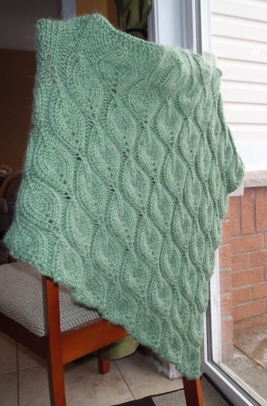 Shawl in Bulky Yarn Knitting Patterns In the Loop Knitting