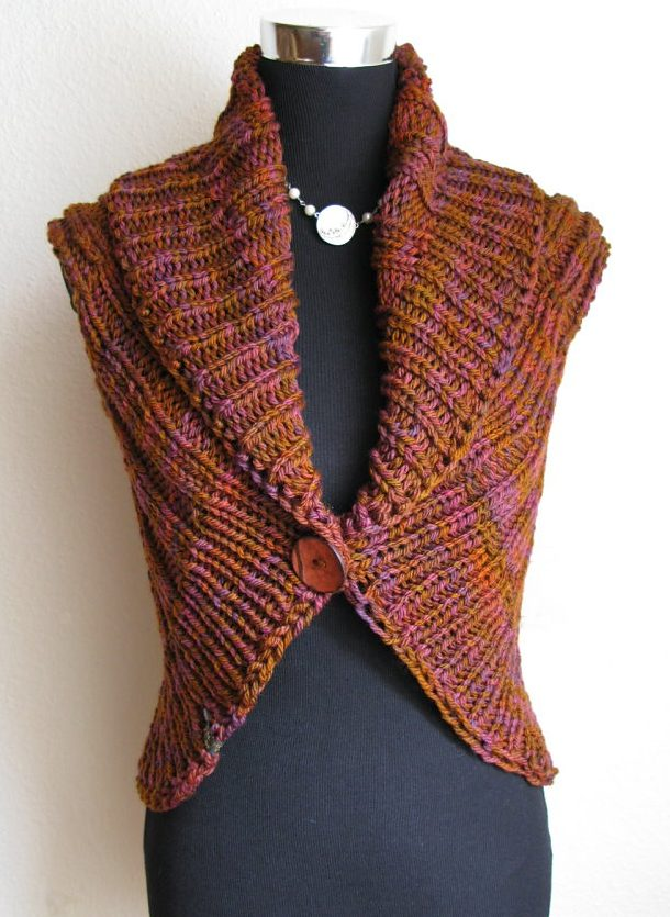 Knitting Pattern Vest : Versatile Vest Knitting Patterns In the Loop Knitting