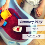 messy sensory play with Gellibaff - a fun new texture