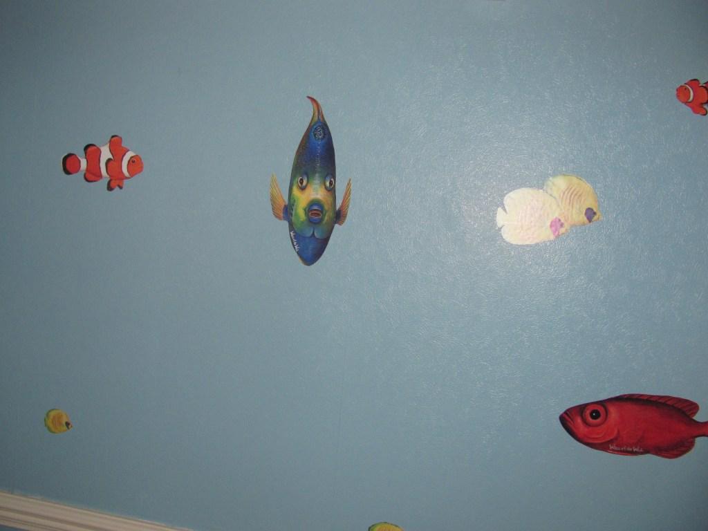 clownfish angel fish wall stickers
