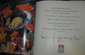 page spread from nanny fox
