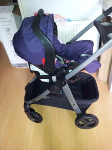 graco sky car seat on the frame